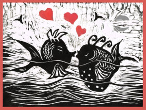 printmakers carolyn king valentine fish