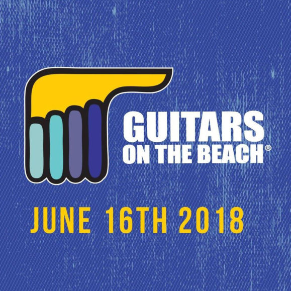 guitars on the beach