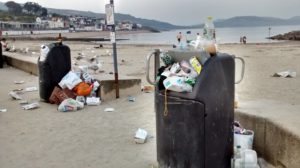seafront rubbish