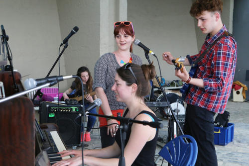 The 'Play Me Piano' proved popular during the Busking Festival (photo by Maisie Hill)