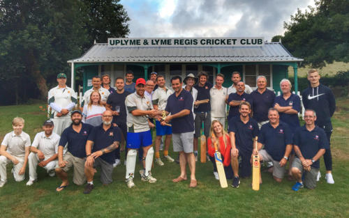 Teams from the lifeboat crew and Uplyme & Lyme Regis Cricket Club