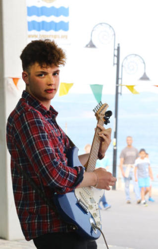 Entertainment was held on the seafront for the Busking Festival (photo by Maisie Hill)
