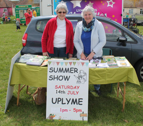 Members of Uplyme & Lyme Regis Horticultural Society promoted their Summer Show