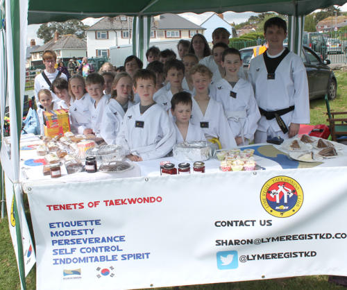 Lyme Regis Taekwondo Club on their stall