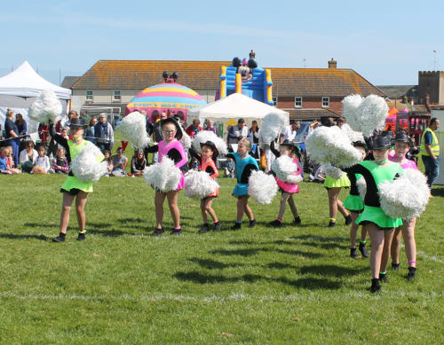 Lyme Regis Majorettes entertain with a display