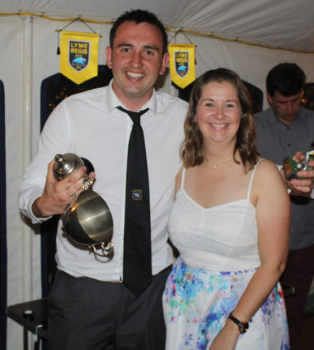THE Philip Evans Trophy for Reserves Manager's Player is presented by his daughter Francesca Evans to Will Meech