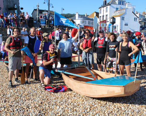 Lyme Regis Boat Building Academy with their bathtub race entry