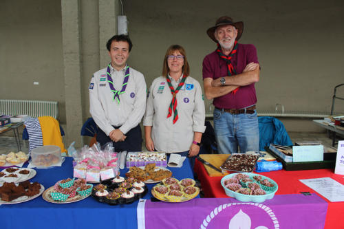 The 1st Lym Valley Scouts held a cake stall