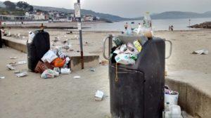 seafront rubbish
