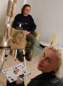 Tom Tom Wallis sits for a portrait by Maria Barbashina