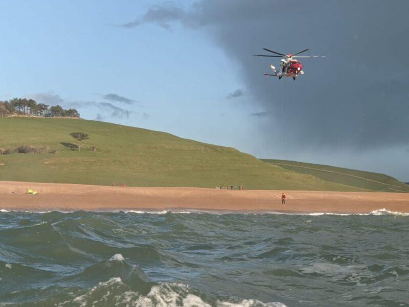 Sea swimmer rescued off Abbotsbury