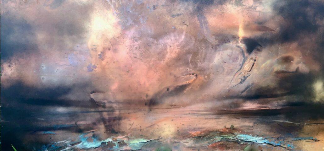 Julie Oldfield painting