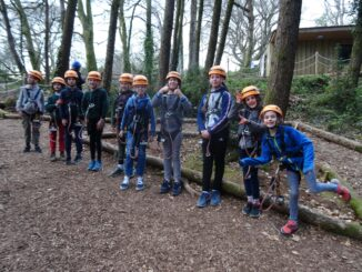 1st Charmouth Scouts at The Tunnel Tree Tops