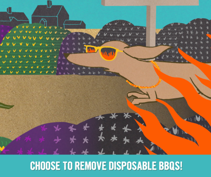 disposable barbecues campaign