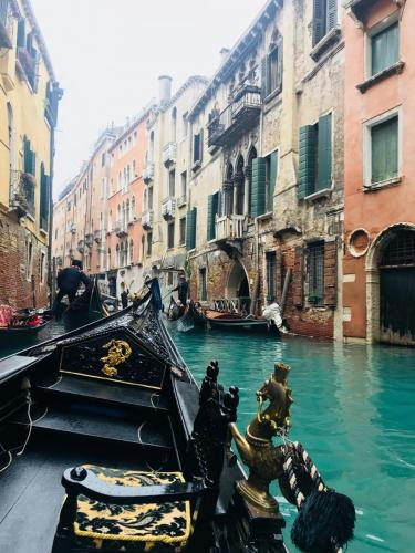 A gondola ride along Venice's historic canals