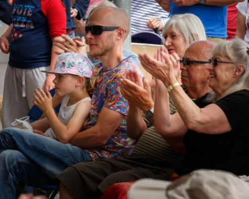 Crowds enjoy music on the seafront (photo by Kevin Marston)