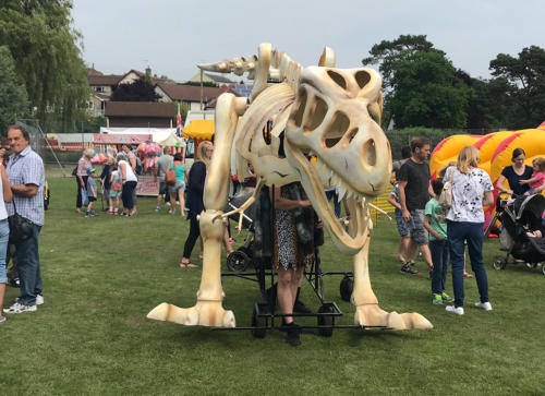 Attractions included a giant, moving dinosaur skeleton