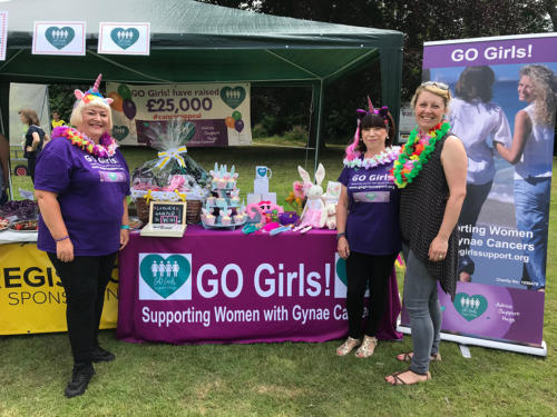 The GO Girls! women's cancer charity were supported by Lyme Regis Football Club's youth section