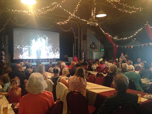 The Marine Theatre was packed for a live screening of the wedding of the year