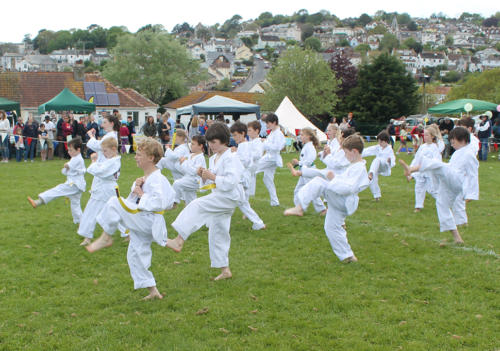 Lyme Regis Taekwondo Club give a display