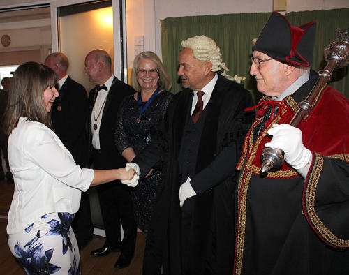 The civic party greets Francesca Evans, editor of LymeOnline