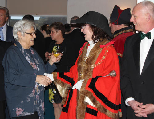 The mayor and her husband Alan welcomed guests to the event