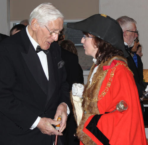 The Reverend Keith Vivian is welcomed by the mayor