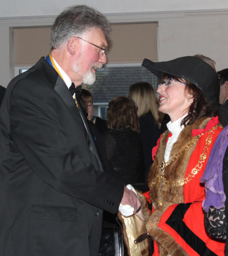 President of the Rotary Club of Lyme Regis, Lesley Baker