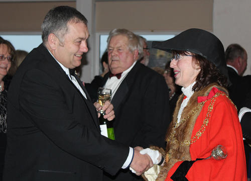 Honoured Citizens Chris Hutchings arrives at the event