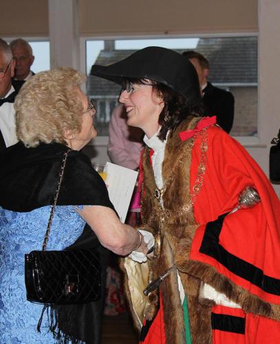 The mayor welcomes Shirley Williams