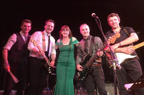 Councillor Ellis pictured with the band DeltaTango7