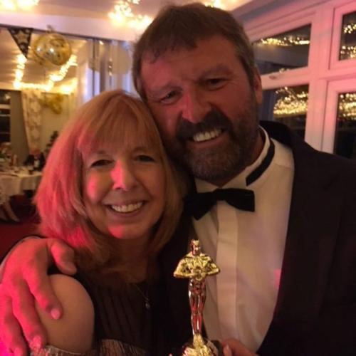 Club captain Lee Caddy and partner Lynette Ravenscroft