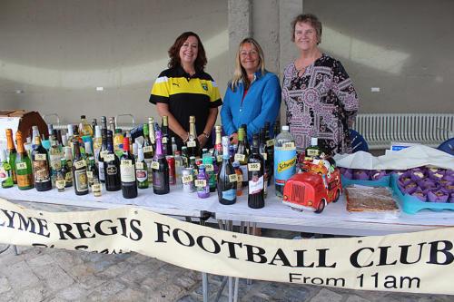 Lyme Regis Football Club held a popular bottle tombola