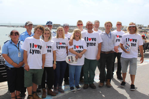 Town councillors and council staff on I Love Lyme Day