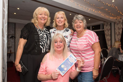 Lucky prizewinners at the ladies night bingo